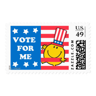 Mr. Happy Vote For Me Flag Postage