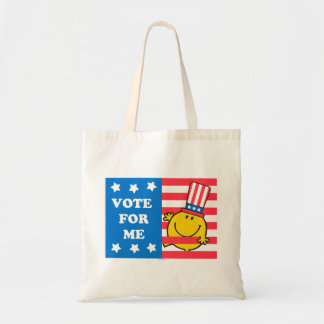 Mr. Happy Vote For Me Flag Tote Bag