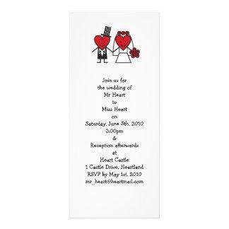Mr. Heart Wedding Invitation - long