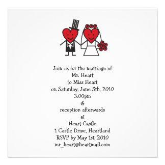 Mr. Heart Wedding Invitation - square
