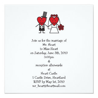 Mr. Heart Wedding Invitation - square