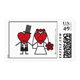 Mr. Heart Wedding Postage