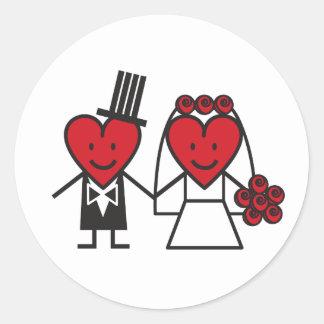 Mr. Heart Wedding Sticker