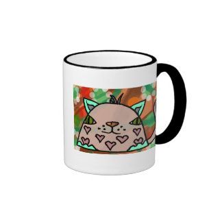 Mr Hearts II Ringer Coffee Mug