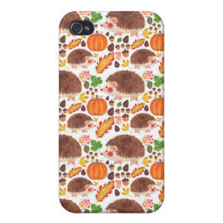 Mr. Hedgehog in Autumn iPhone 4 Case
