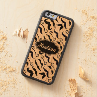 Mr. Hipster Mustache Vintage Retro Carved Cherry iPhone 6 Bumper Case