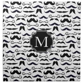 Mr. Hipster Mustache Vintage Retro Napkin