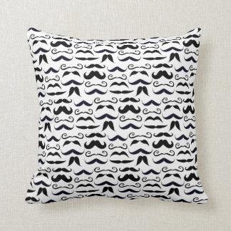 Mr. Hipster Mustache Vintage Retro Throw Pillow
