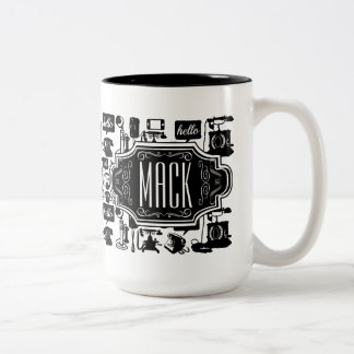 Mr. Hipster Retro Telephone Vintage Hello Two-Tone Coffee Mug