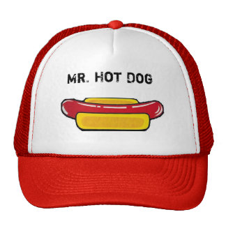 Mr. Hot Dog Cap Gorros Bordados