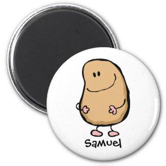 Mr Human Bean 2 Inch Round Magnet
