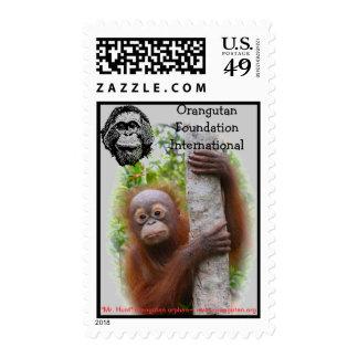 Mr. Hunt Orangutan Postage Stamps