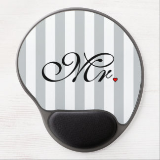 Mr. Husband Groom Click to Customize Color Stripes Gel Mouse Pad