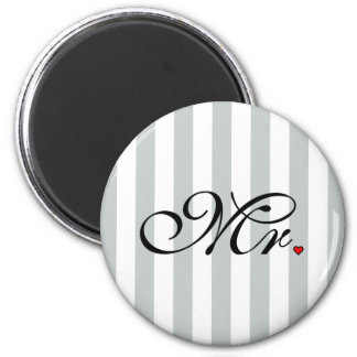 Mr. Husband Groom Click to Customize Color Stripes Magnet