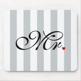 Mr. Husband Groom Click to Customize Color Stripes Mouse Pad