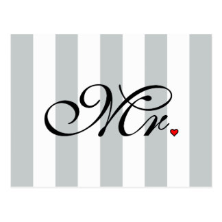 Mr. Husband Groom Click to Customize Color Stripes Postcard