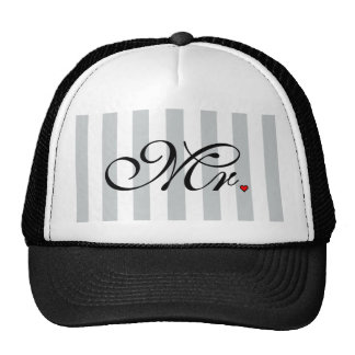 Mr. Husband Groom Click to Customize Color Stripes Trucker Hat