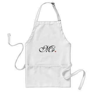 Mr. Husband Groom His Her Newly Weds Adult Apron at Zazzle