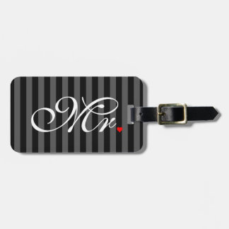 Mr. Husband Groom His Hers Newly Weds Bag Tag