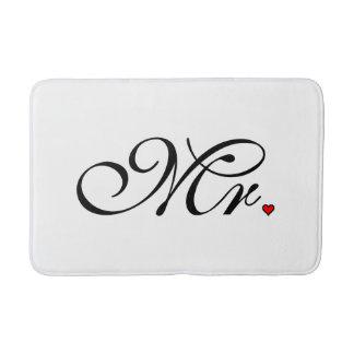 Mr. Husband Groom His Hers Newly Weds Bath Mat
