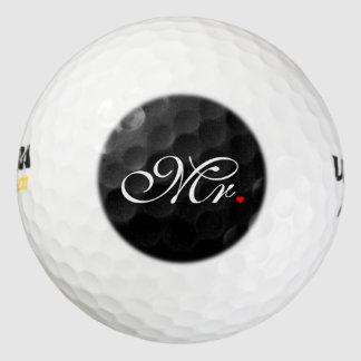 Mr. Husband Groom His Hers Newly Weds Golf Balls