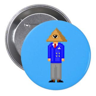 Mr. Illuminati 8-Bit Button