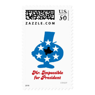 Mr. Impossible For President Postage