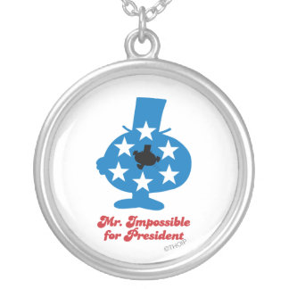 Mr. Impossible For President Round Pendant Necklace