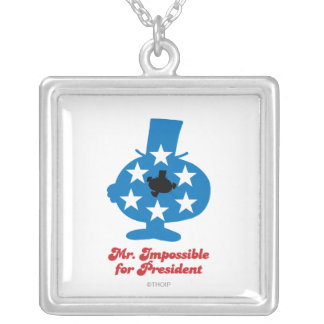 Mr. Impossible For President Square Pendant Necklace