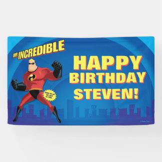 Mr. Incredible Birthday Banner