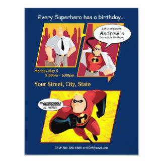Mr. Incredible Birthday Invitation