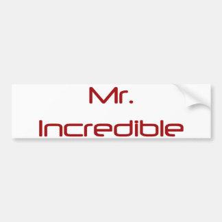 Mr. Incredible Bumper Sticker