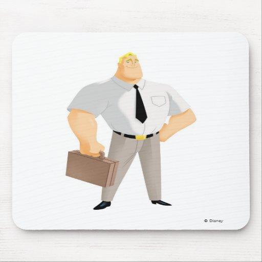 Mr. Incredible plain clothes civilian briefcase Mouse Pads