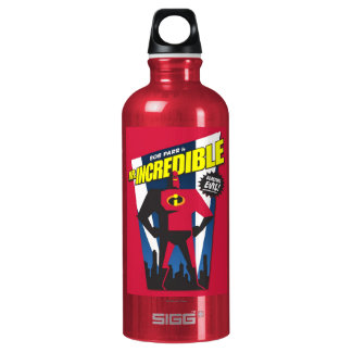 Mr Incredible Poster Art Disney Aluminum Water Bottle