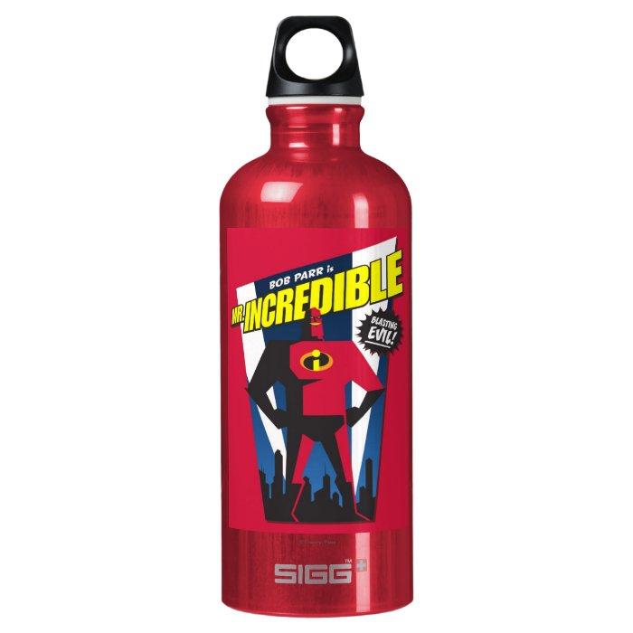 Mr Incredible Poster Art Disney Aluminum Water Bottle | Zazzle