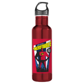 Mr Incredible Poster Art Disney Stainless Steel Water Bottle