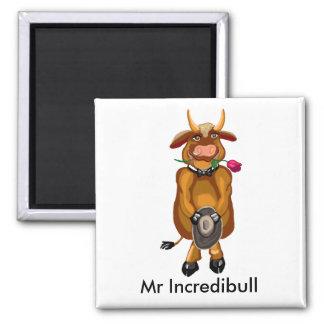 Mr Incredibull 2 Inch Square Magnet