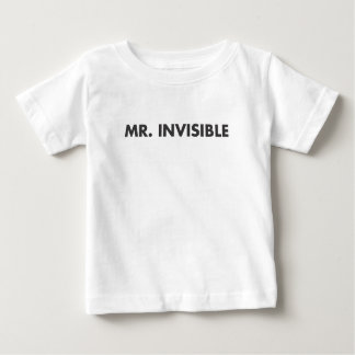 Mr Invisible Baby T-Shirt