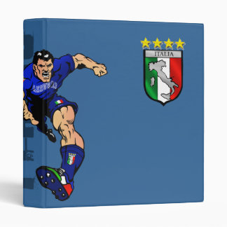 Mr Italian Stallion Forza Azzurri Italy 2010 gifts 3 Ring Binder