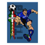 Mr Italian Stallion Forza Azzurri Italy 2010 gifts Poster
