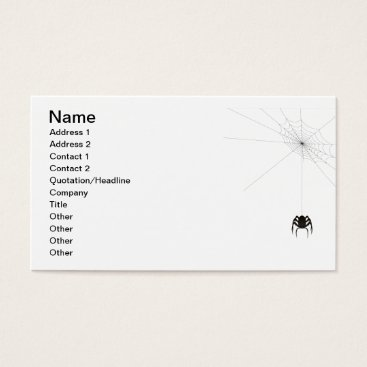 Halloween Themed Mr. Itsy Bitsy Business Card