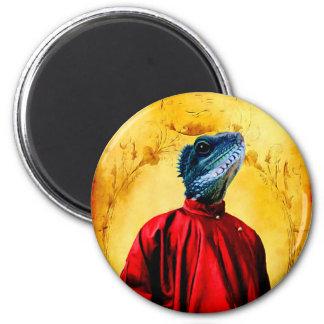 Mr. Jacobson - Iguana: 2 Inch Round Magnet