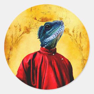 Mr Jacobson - Iguana Round Stickers