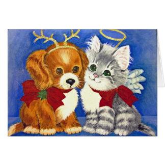 """Mr. Jangles & Miss Prissy""  CHRISTMAS CARD"