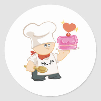 Mr. Junky Food Classic Round Sticker