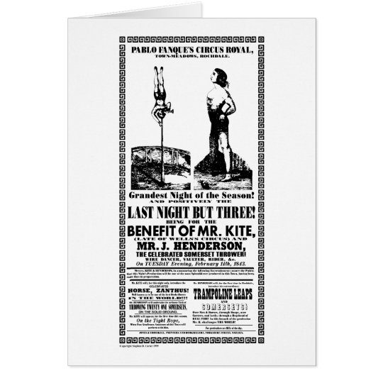 Mr Kite - Note Card