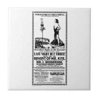 Mr Kite Poster on a Tile