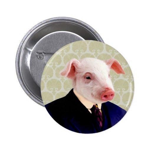 Mr. Langdon - Pig: 2 Inch Round Button