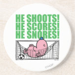 Mr. Lazy Napping In A Soccer Goal Coasters