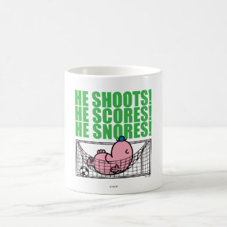Mr. Lazy Napping In A Soccer Goal Coffee Mug
